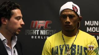 Iuri Alcântara UFC Fight Night Berlin Post Fight Scrum