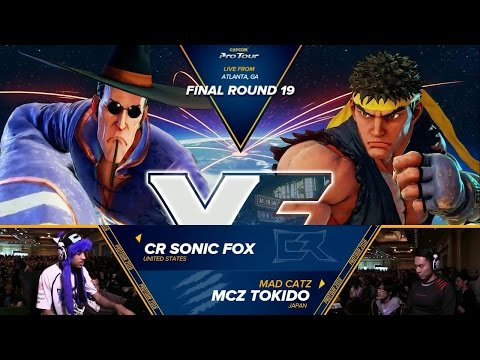 SFV: CR Sonic Fox vs MCZ Tokido - Final Round 19 Top 8 - CPT 2016