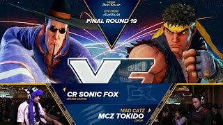 sfv cr sonic fox vs mcz tokido final round 19 top 8 cpt 2016