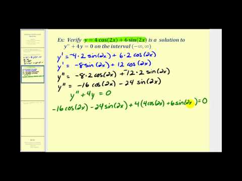 Verifying Solutions to Differential Equations