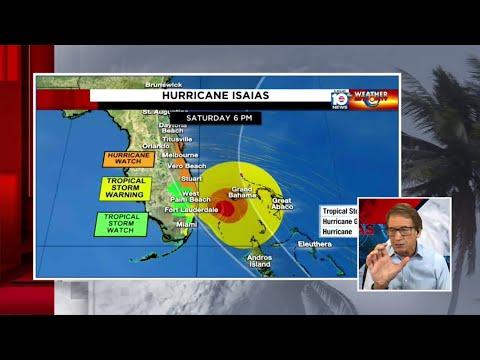 Hurricane Isaias forecast