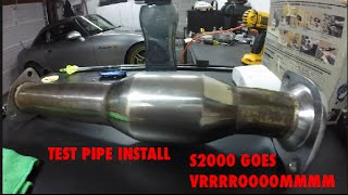 S2000 | Test Pipe Install