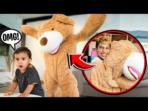Giant TEDDY BEAR PRANK on BABY MILAN!!! (UNEXPECTED REACTION) | The Royalty Family
