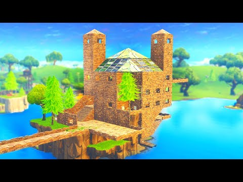 *INSANE* FORTNITE MANSION BUILD CHALLENGE! (Boy Vs. Girl)