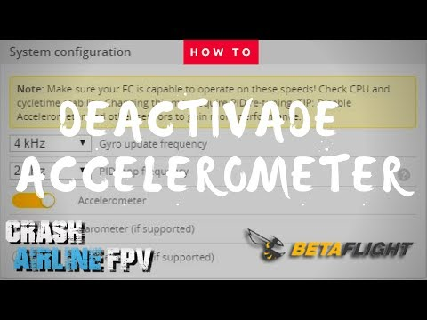 Howto deactivate your Accelerometer