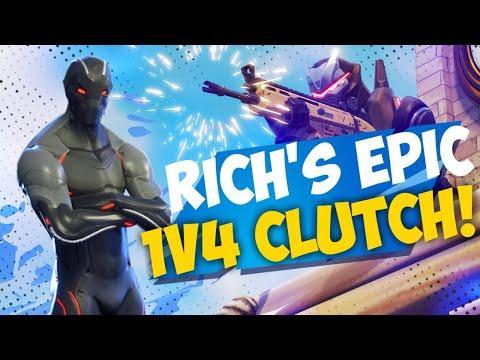 Fortnite Epic Moments - RICH'S EPIC 4v1 CLUTCH!