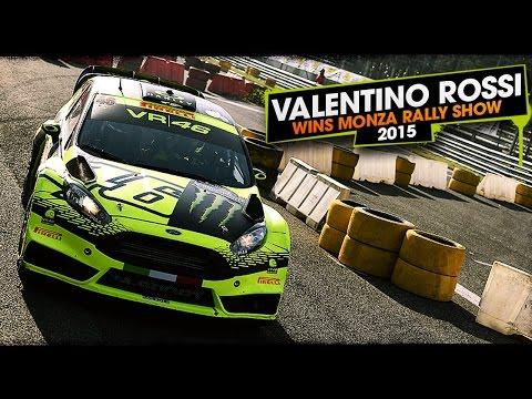 Valentino Rossi Wins 2015 Monza Rally Show