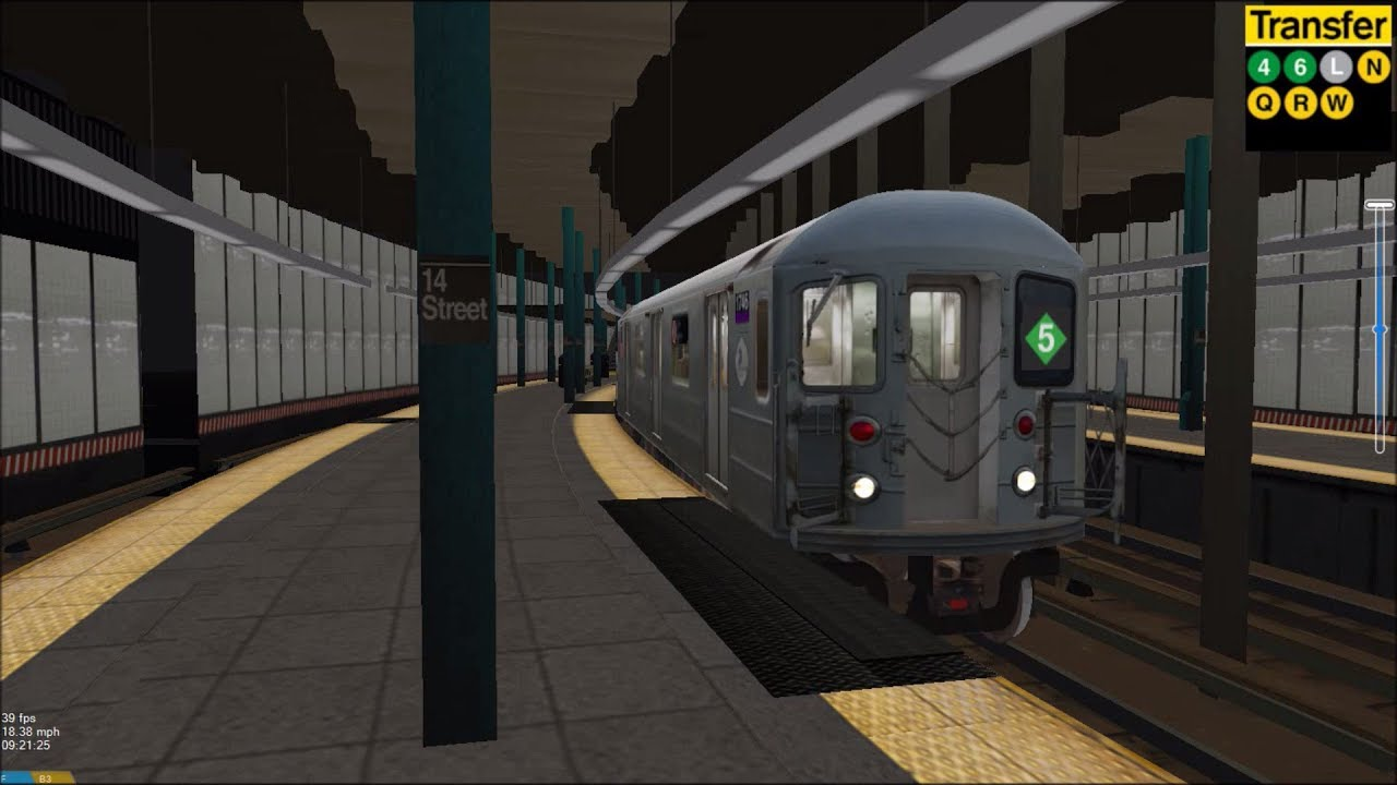 OpenBVE HD EXCLUSIVE: NYC Subway 5 Train Full Route Preview (R62A Chase  Dyre Av to Flatbush Av)