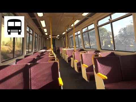 Queensland Rail Electric Multiple Unit 000 series - Eagle Junction to Wooloowin