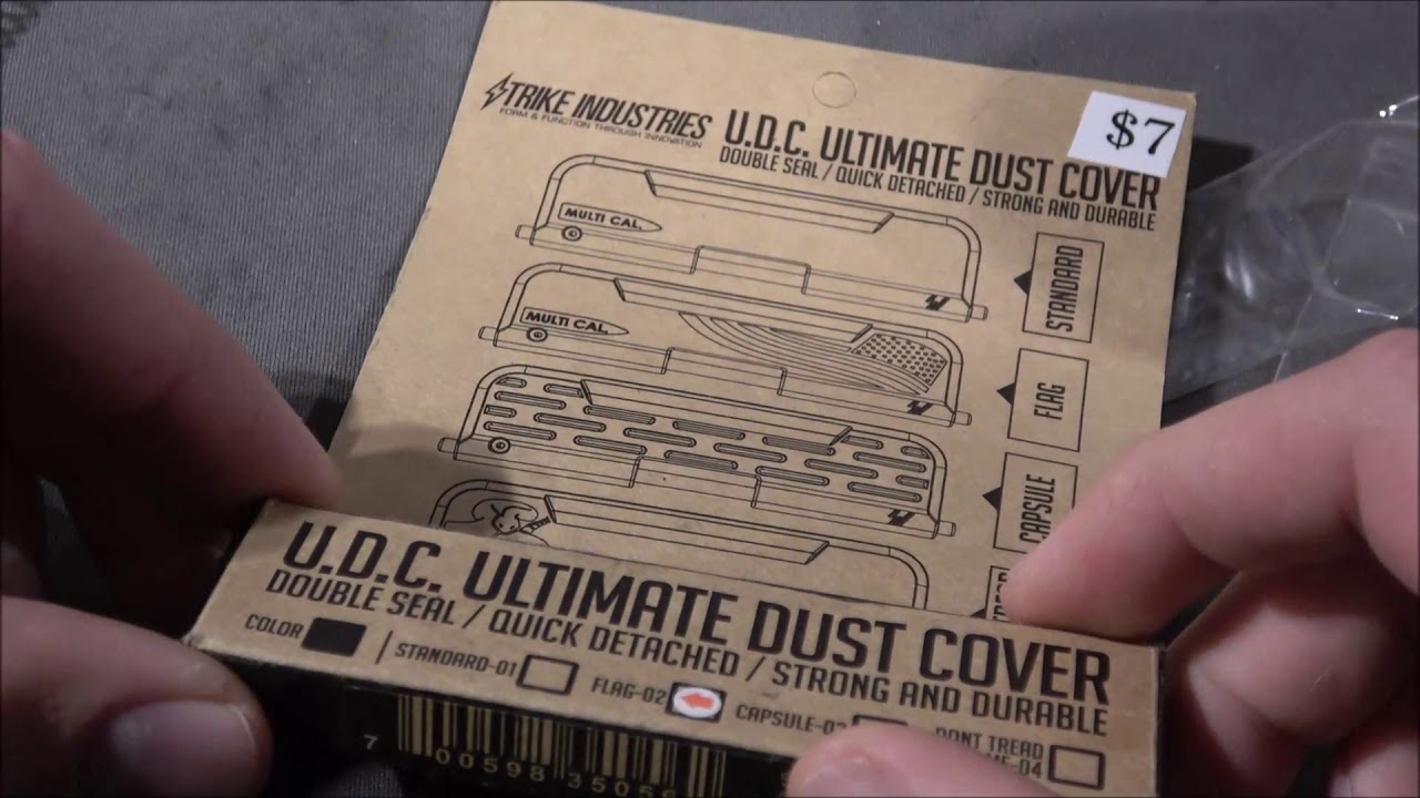 Fastest AR15 Port Cover Ever! Strike Industries Ultimate Dust Cover Installation