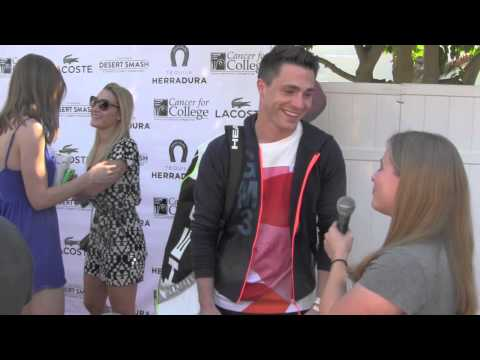 Arrow's Colton Haynes Interview at Desert Smash Benefiting Cancer for College