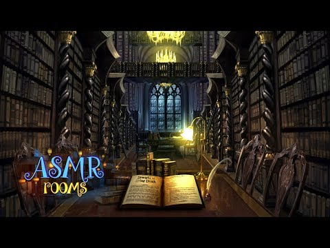 Harry Potter ASMR - Hogwarts Library REMAKE  - Ambient soundscape cinemagraph