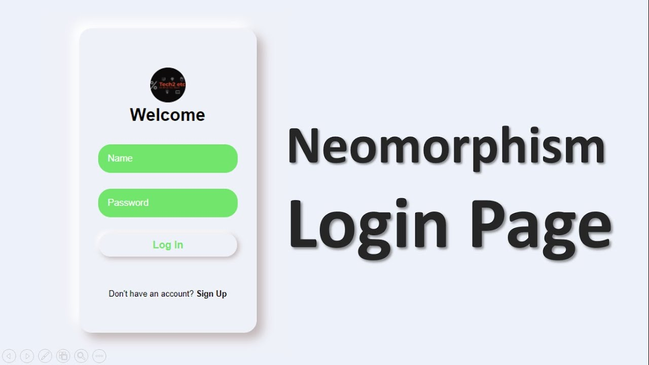 CSS Neumorphism Login Page In HTML CSS | Tutorial