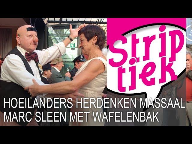 Hoeilanders herdenken massaal Marc Sleen met wafelenbak