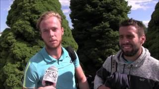 Filip Doležel a Václav Šafránek po čtvrtfinále deblu na turnaji Futures v Ústí n. O.