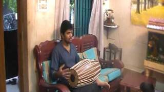 Prapancham Surendran taking Mridangam classes at RAM