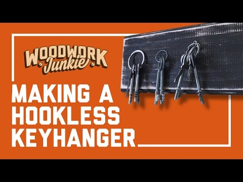 Magic hookless key hanger – DIY – Simple novice woodworking project
