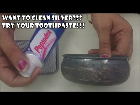 How to Clean Silver with toothpaste | Diwali ki Safai | Amazing use of Colgate Toothpaste