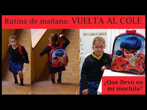 RUTINA DE MAÑANA DEL PRIMER DIA DE COLE - LA VUELTA AL COLEGIO - QUE LLEVO EN MI MOCHILA DE LADYBUG
