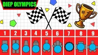 DIEP.IO OLYMPICS - RACING ALL LEVEL 45 DIEP.IO TANKS | Diepkart | HEXADECAGOR | Diep.io Racing!