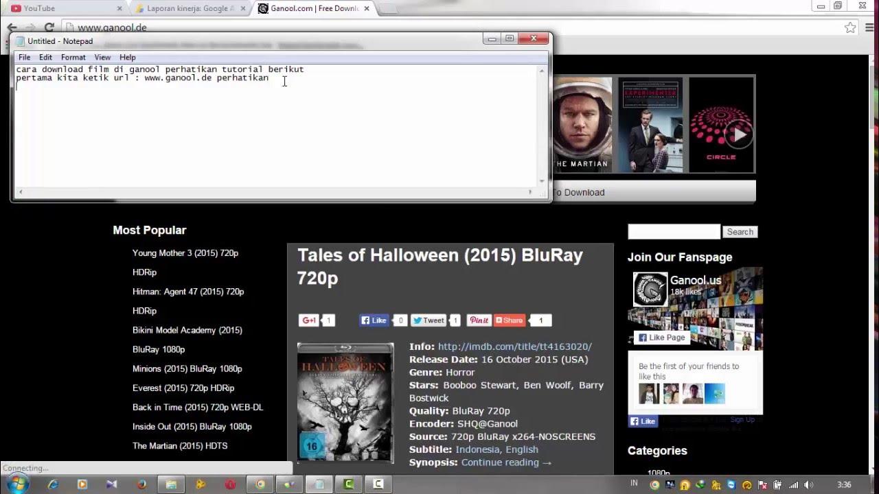 Cara Download Film Di Ganool Dan Subtitlenya Youtube