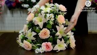 Лучшие букеты в интернет-магазине Kvitu.in.ua! № 333 Ладья свадебная, 35см(Восхитительный комбинированный искуственный букет на свадьбу