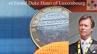 RARE coin Luxembourg 1 euro Year 2009 Henri Lëtzebuerg PЕДКОЕ евро Люксембург