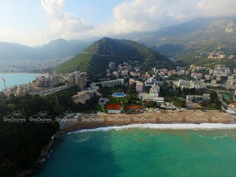Budva Bečići Montenegro Drone Aerial Video  бечичи черногория