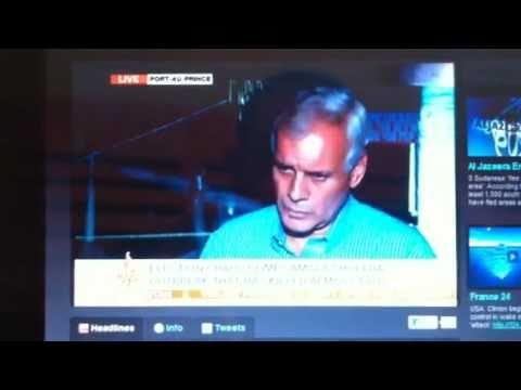 Charles Henri Baker Live Interview with Lucia Newman from AL JAZEERA - Haiti Elections 11/29/2010