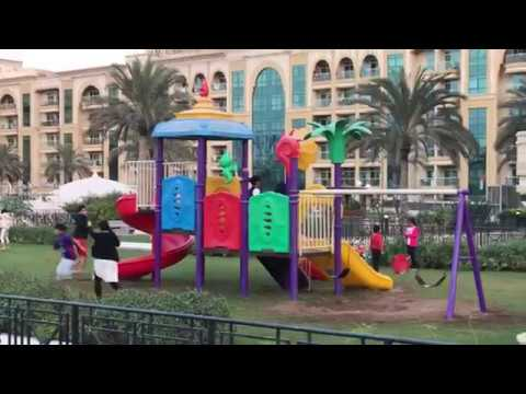 Dubai Residential Oasis - beautiful building with - kids play area in first floor
