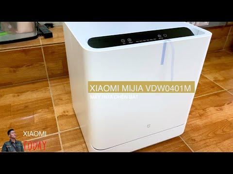 Máy rửa chén bát Xiaomi Mijia VDW0401M khử trùng bát đũa điều khiển app hệ thống phun nước kép 6D