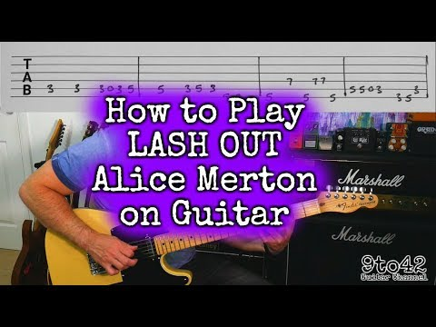 Alice Merton - Lash Out Guitar Lesson Tutorial