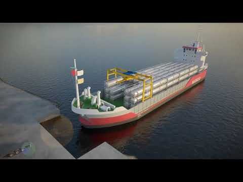 A vessel concept for small scale LNG(ssLNG) logistics using ISO LNG tank container