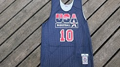 NBA USA DREAM TEAM AUTHENTIC PRACTICE JERSEY | CLYDE DREXLER | MITCHELL & NESS