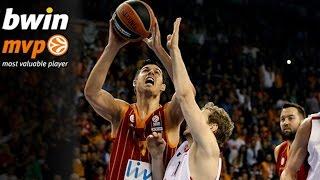 Regular Season Round 6 bwin MVP: Zoran Erceg, Galatasaray Liv Hospital Istanbul