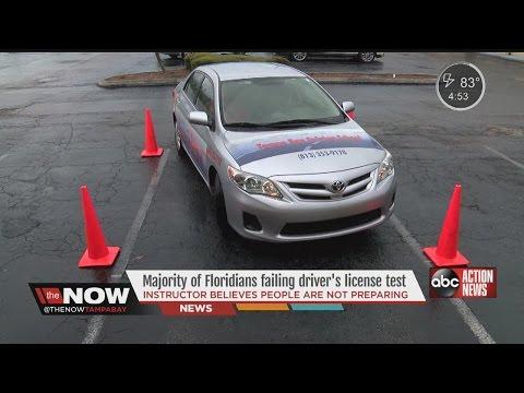 Majority of Floridians failing written driver's test