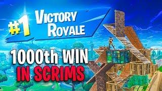 I Got My 1000 Win on Fortnite in a Scrim Game! (Pro Scrim)