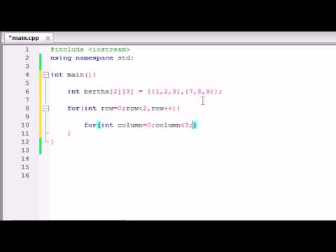 buckys c programming tutorials 37 how to print out multidimensional arrays