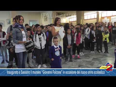 """Inaugurato a Sassano il murales """"Giovanni Falcone"""""""