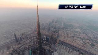 DJI Phantom 2 to the Top of Burj Khalifa