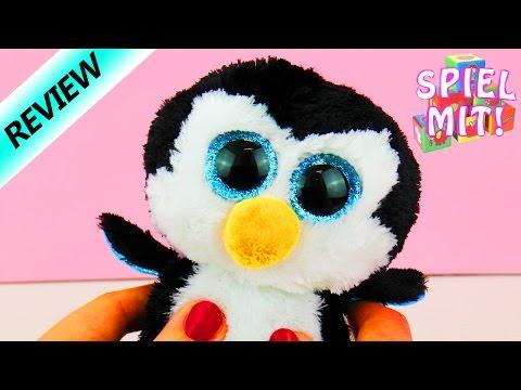 Glubschi ty Beanie Boos Kuscheltier - süßer Pinguin mit eisblauen funkelnde Augen