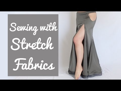 3 Tricks for Sewing Stretch Fabrics (& avoiding uneven skirt hem!)