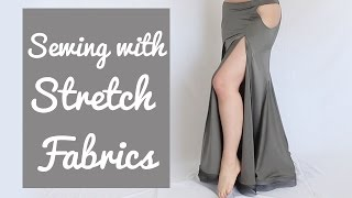 3 Tricks for Sewing Stretch Fabrics (& avoiding uneven skirt hem!)
