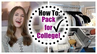 How to Pack for College! Tips, Tricks, & Organization!