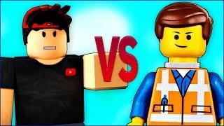 LEGO VS ROBLOX СУПЕР РЭП БИТВА Лего Фильм ниндзяго ПРОТИВ Роблокс игра