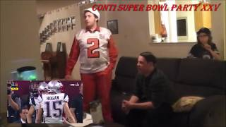 2016 PATRIOTS SUPER BOWL LI 51 Fan Reaction - (2-5-2017) (4th Quarter - Edelman catch) * 1/3 *