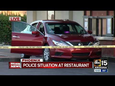 Two men shot outside Phoenix fast food restaurant