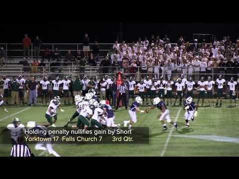 2013 Falls Church vs Yorktown Football Highlights