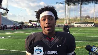 Aliquippa RB Avante McKenzie on his four-TD performance in the Class 3A football final