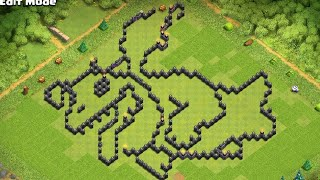 Clash of Clans funny/troll base layout with copy link for TH 11 & 12.